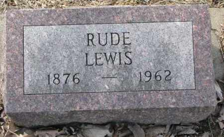 LEWIS, RUDE - Burt County, Nebraska | RUDE LEWIS - Nebraska Gravestone Photos