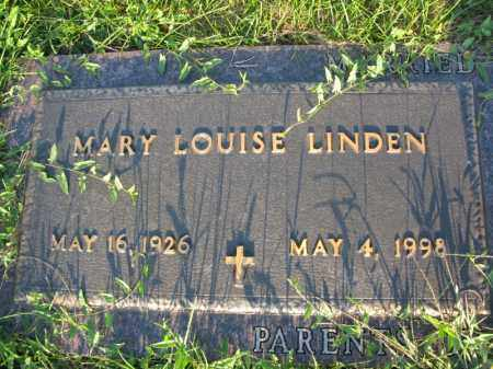 LINDEN, MARY LOUISE - Burt County, Nebraska | MARY LOUISE LINDEN - Nebraska Gravestone Photos