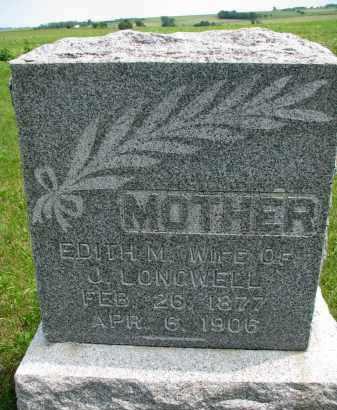 LONGWELL, EDITH M. - Burt County, Nebraska   EDITH M. LONGWELL - Nebraska Gravestone Photos