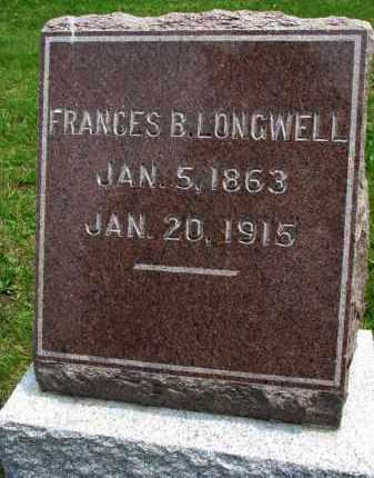LONGWELL, FRANCES B. - Burt County, Nebraska   FRANCES B. LONGWELL - Nebraska Gravestone Photos