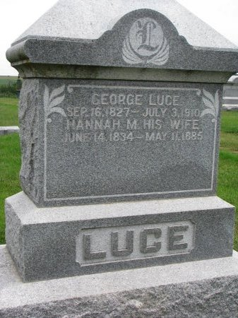 LUCE, GEORGE - Burt County, Nebraska | GEORGE LUCE - Nebraska Gravestone Photos