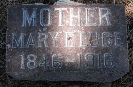 LUCE, MARY E. - Burt County, Nebraska | MARY E. LUCE - Nebraska Gravestone Photos
