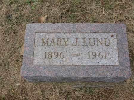 LUND, MARY J. - Burt County, Nebraska | MARY J. LUND - Nebraska Gravestone Photos