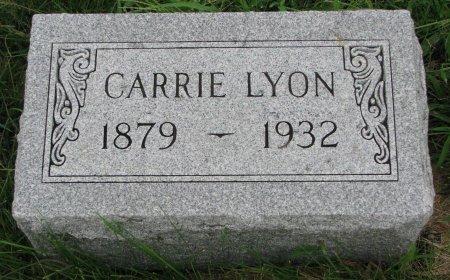 LYON, CARRIE - Burt County, Nebraska | CARRIE LYON - Nebraska Gravestone Photos