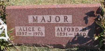 MAJOR, ALFORD M. - Burt County, Nebraska | ALFORD M. MAJOR - Nebraska Gravestone Photos