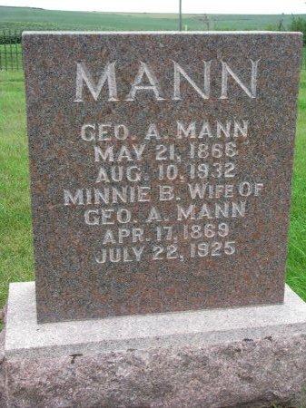 MANN, MINNIE B. - Burt County, Nebraska | MINNIE B. MANN - Nebraska Gravestone Photos