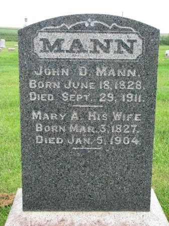 MANN, MARY A. - Burt County, Nebraska | MARY A. MANN - Nebraska Gravestone Photos
