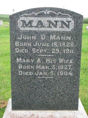 MANN, JOHN D. - Burt County, Nebraska | JOHN D. MANN - Nebraska Gravestone Photos