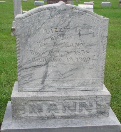 MANN, LIZZIE M. - Burt County, Nebraska | LIZZIE M. MANN - Nebraska Gravestone Photos
