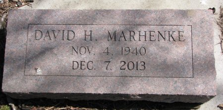 MARHENKE, DAVID H. - Burt County, Nebraska | DAVID H. MARHENKE - Nebraska Gravestone Photos