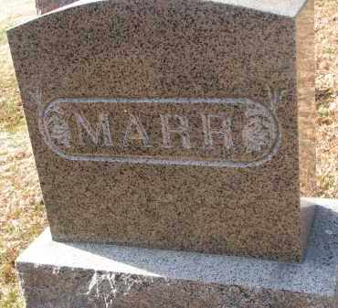 MARR, FAMILY STONE - Burt County, Nebraska | FAMILY STONE MARR - Nebraska Gravestone Photos