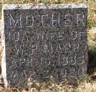 MARR, IDA - Burt County, Nebraska | IDA MARR - Nebraska Gravestone Photos