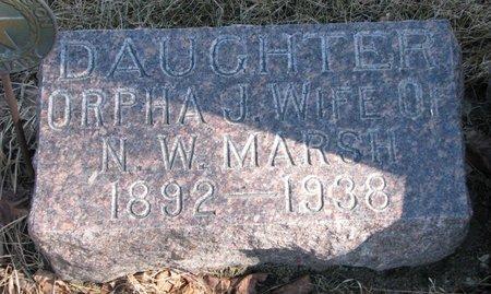 MARSH, ORPHA JUNE - Burt County, Nebraska | ORPHA JUNE MARSH - Nebraska Gravestone Photos