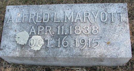 MARYOTT, ALFRED L. - Burt County, Nebraska | ALFRED L. MARYOTT - Nebraska Gravestone Photos