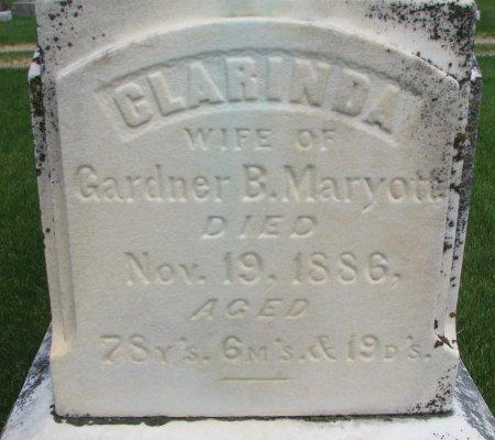 MARYOTT, CLARINDA (CLOSE UP) - Burt County, Nebraska | CLARINDA (CLOSE UP) MARYOTT - Nebraska Gravestone Photos