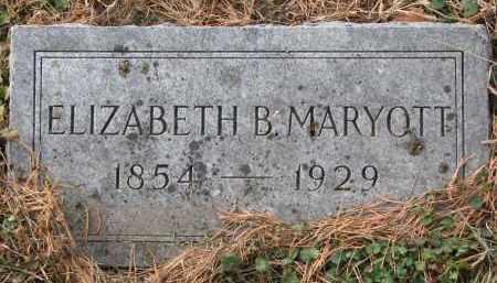 MARYOTT, ELIZABETH B. - Burt County, Nebraska   ELIZABETH B. MARYOTT - Nebraska Gravestone Photos