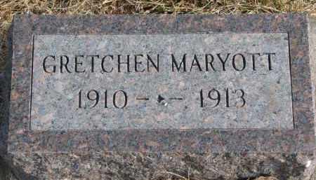 MARYOTT, GRETCHEN - Burt County, Nebraska | GRETCHEN MARYOTT - Nebraska Gravestone Photos