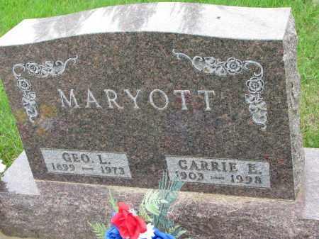 MARYOTT, CARRIE E. - Burt County, Nebraska | CARRIE E. MARYOTT - Nebraska Gravestone Photos