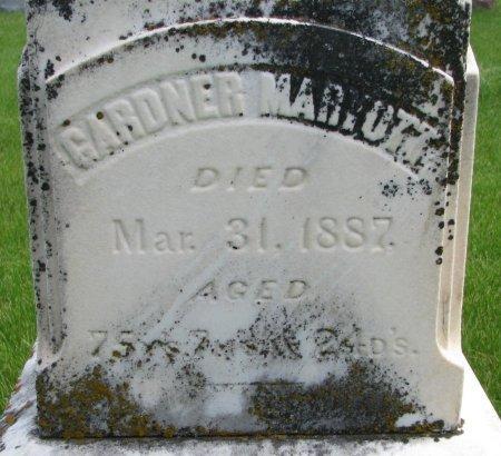 MARYOTT, GARDNER (CLOSE UP) - Burt County, Nebraska | GARDNER (CLOSE UP) MARYOTT - Nebraska Gravestone Photos