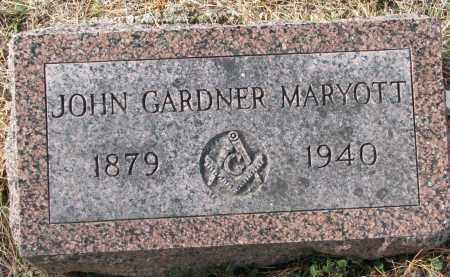 MARYOTT, JOHN GARDNER - Burt County, Nebraska | JOHN GARDNER MARYOTT - Nebraska Gravestone Photos