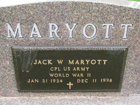 MARYOTT, JACK W. (WW II) - Burt County, Nebraska   JACK W. (WW II) MARYOTT - Nebraska Gravestone Photos