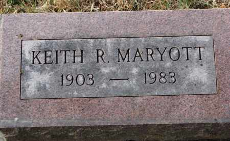 MARYOTT, KEITH R. - Burt County, Nebraska | KEITH R. MARYOTT - Nebraska Gravestone Photos