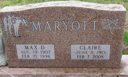 MARYOTT, CLAIRE - Burt County, Nebraska | CLAIRE MARYOTT - Nebraska Gravestone Photos