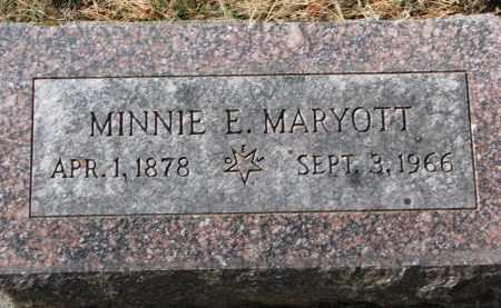 MARYOTT, MINNIE E. - Burt County, Nebraska   MINNIE E. MARYOTT - Nebraska Gravestone Photos