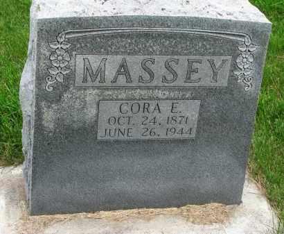 MASSEY, CORA E. - Burt County, Nebraska | CORA E. MASSEY - Nebraska Gravestone Photos