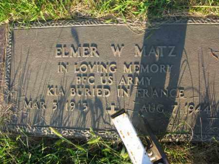 MATZ, ELMER W. - Burt County, Nebraska | ELMER W. MATZ - Nebraska Gravestone Photos