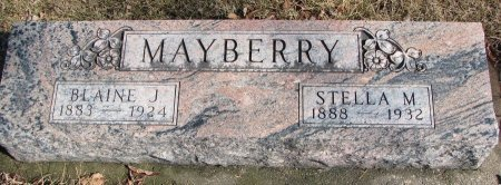 MAYBERRY, BLAINE J. - Burt County, Nebraska | BLAINE J. MAYBERRY - Nebraska Gravestone Photos
