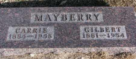 MAYBERRY, GILBERT - Burt County, Nebraska | GILBERT MAYBERRY - Nebraska Gravestone Photos