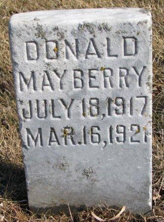 MAYBERRY, DONALD - Burt County, Nebraska | DONALD MAYBERRY - Nebraska Gravestone Photos