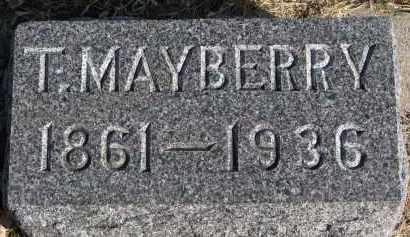 MAYBERRY, T. - Burt County, Nebraska   T. MAYBERRY - Nebraska Gravestone Photos