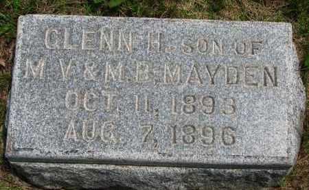 MAYDEN, GLENN H. - Burt County, Nebraska | GLENN H. MAYDEN - Nebraska Gravestone Photos