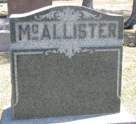MCALLISTER, *FAMILY MONUMENT - Burt County, Nebraska | *FAMILY MONUMENT MCALLISTER - Nebraska Gravestone Photos