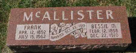MCALLISTER, BESSIE M. - Burt County, Nebraska   BESSIE M. MCALLISTER - Nebraska Gravestone Photos