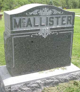 MCALLISTER, (FAMILY MONUMENT) - Burt County, Nebraska | (FAMILY MONUMENT) MCALLISTER - Nebraska Gravestone Photos