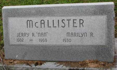 MCALLISTER, JERRY R. - Burt County, Nebraska | JERRY R. MCALLISTER - Nebraska Gravestone Photos
