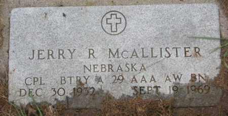 MCALLISTER, JERRY R. (MILITARY) - Burt County, Nebraska | JERRY R. (MILITARY) MCALLISTER - Nebraska Gravestone Photos