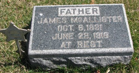 MCALLISTER, JAMES - Burt County, Nebraska | JAMES MCALLISTER - Nebraska Gravestone Photos