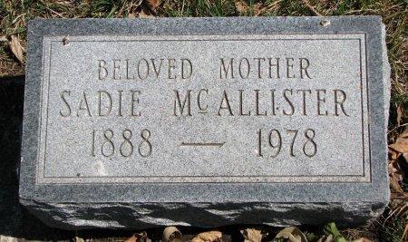 MCALLISTER, SADIE - Burt County, Nebraska | SADIE MCALLISTER - Nebraska Gravestone Photos
