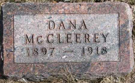 MCCLEEREY, DANA - Burt County, Nebraska | DANA MCCLEEREY - Nebraska Gravestone Photos