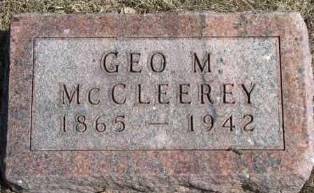 MCCLEEREY, GEO. M. - Burt County, Nebraska | GEO. M. MCCLEEREY - Nebraska Gravestone Photos