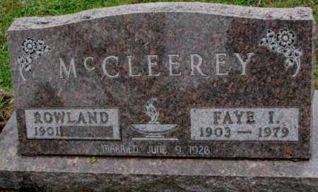 MCCLEEREY, FAYE I. - Burt County, Nebraska   FAYE I. MCCLEEREY - Nebraska Gravestone Photos