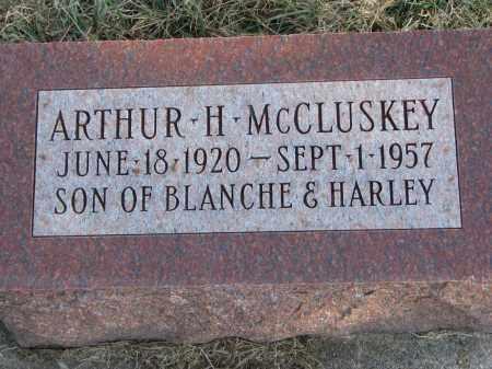 MCCLUSKEY, ARTHUR H. - Burt County, Nebraska | ARTHUR H. MCCLUSKEY - Nebraska Gravestone Photos