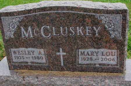 MCCLUSKEY, WESLEY A. - Burt County, Nebraska | WESLEY A. MCCLUSKEY - Nebraska Gravestone Photos