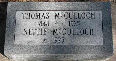 MCCULLOCH, NETTIE - Burt County, Nebraska | NETTIE MCCULLOCH - Nebraska Gravestone Photos