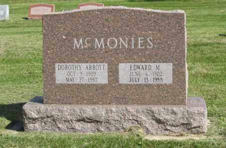 ABBOTT MCMONIES, DOROTHY - Burt County, Nebraska | DOROTHY ABBOTT MCMONIES - Nebraska Gravestone Photos