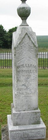 MCMULLEN, WILLIAM - Burt County, Nebraska   WILLIAM MCMULLEN - Nebraska Gravestone Photos